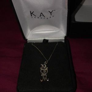 "KAYS ""MOM"" sterling silver Necklace"